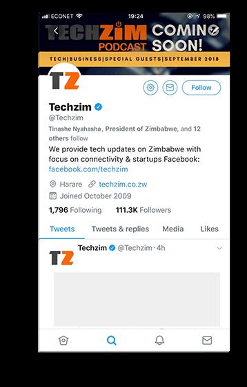 Techzim Twitter Mockup