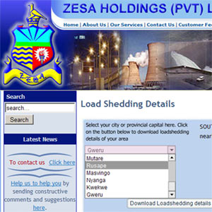 ZESA loadshedding