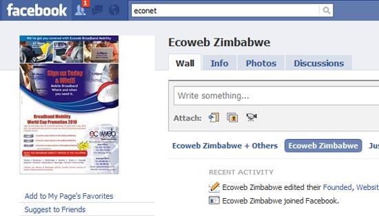 Ecoweb Facebook Page