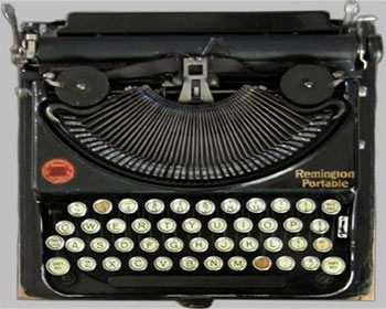 Typewriter, Remington Portable