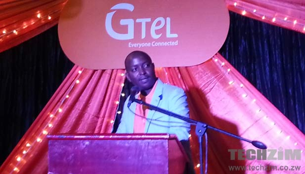GTel founder and CEO, Chamunorwa Shumba, speaking at the launch of the companies new flagship device, the A717 Explorer