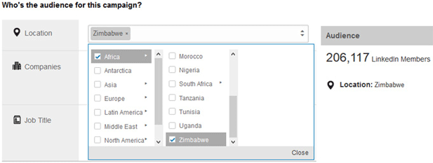 Only 11 African countries can be targeted with advertising on LinkedIn