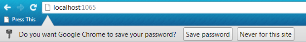 chrome save password prompt