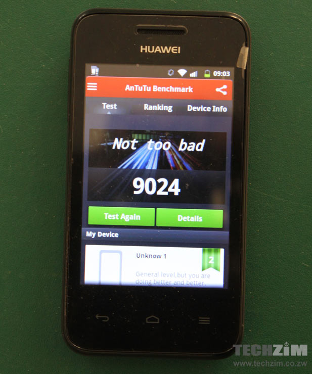 Huawei Ascend Y220: AnTuTu benchmark overall score