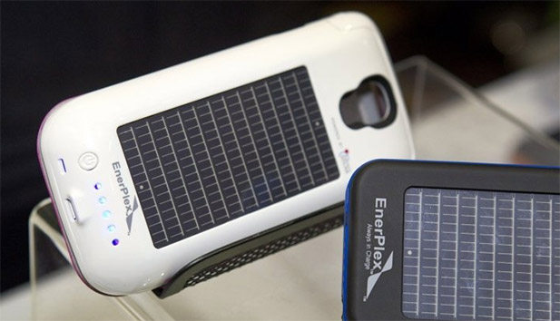 EnerPlex smartphone solar powered battery. Image Credit: BBC