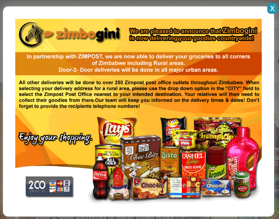 Zimbogini popup advertising partnership with Zimpost