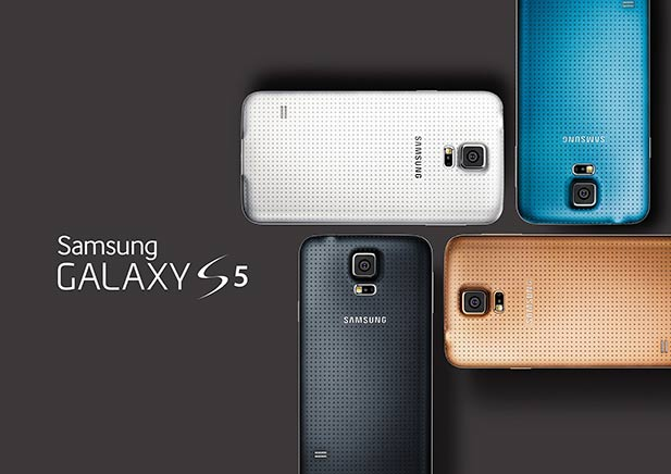 The Samsung Galaxy S5 will be available in 4 colors