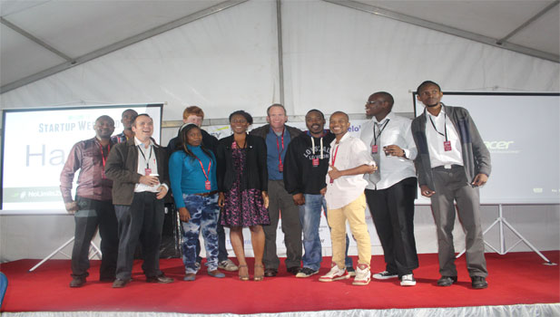 The 11 finalists from the first night of Startup Weekend Zimbabwe