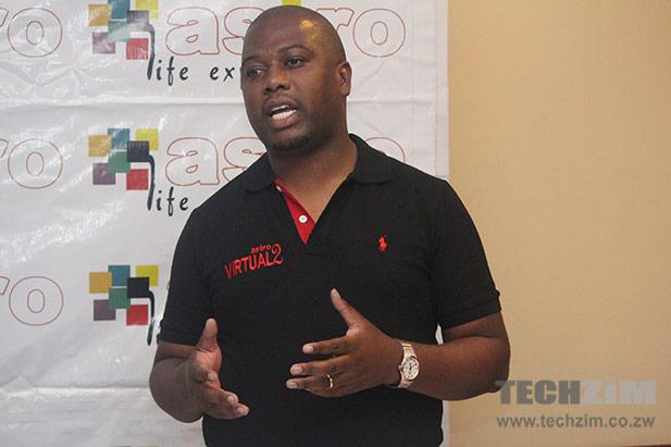 Astro CEO Munyaradzi Gwatidzo announcing the Astro Virtual 2
