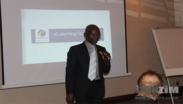 Stewart Masimirembwa cofounder of eLearning Solutions at the mCourser launch