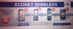 Econet advertises low end smartphone deals at $10 & $15 over 24 mnths
