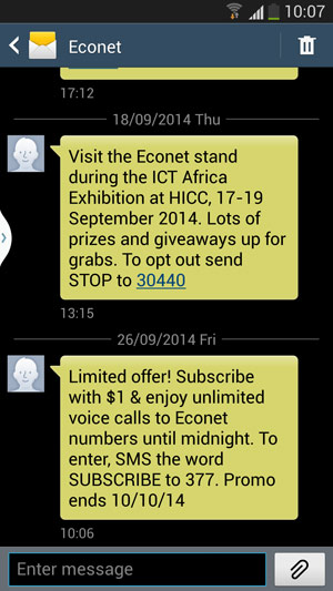 Econet Unlimited Voice