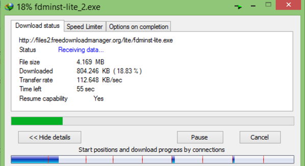 A routine download during peak hour