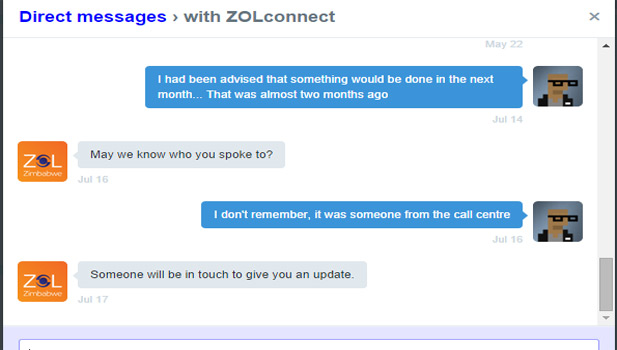 ZOL Customer Care Dialogue