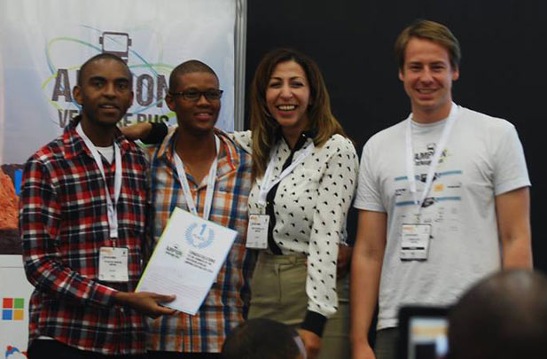 The winning team from Ampion Venture Bus Southern Africa 2014