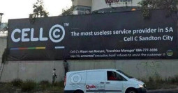 Cell C Banner Protest