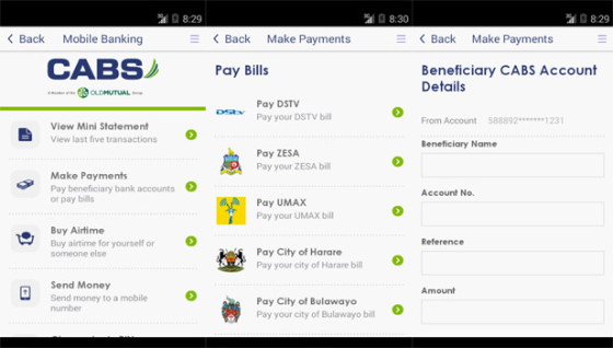 CABS Mobile Banking App