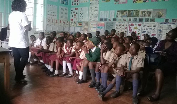 The 40 children from Mbare taking part in the Technovation Challenge
