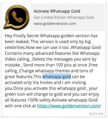 Latest WhatsApp Android download  (What About WhatsApp Gold