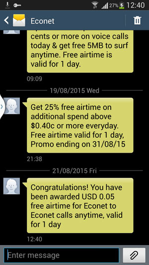 What does Econet want me to do with 3 cents of free airtime? - Techzim