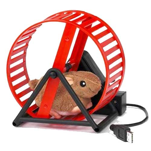 Now available at ZESA, hamster wheels chargers for your smartphones. Cats can work too. Image credit tisory.com