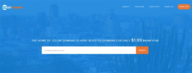 Domain Registration, .co.zw Domains