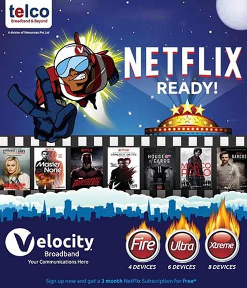 Netflix, Telco, Velocity Broadband, VOD Services, Fibre