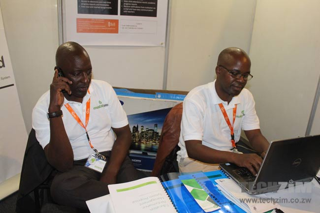 Samson Chauruka and Kuda Mafutah, part of the Mustard Seed team