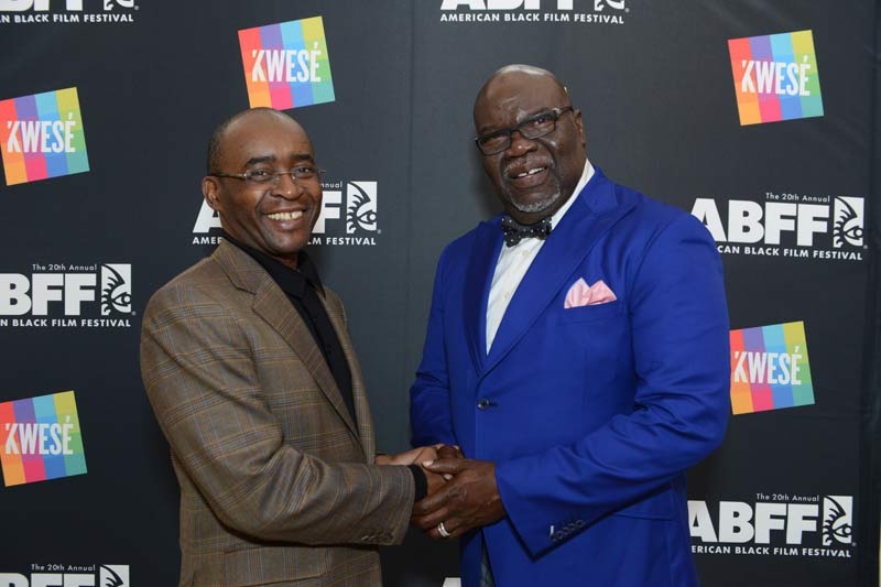 TD Jakes with Strive Masiyiwa of, Econet