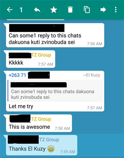 WhatsApp, IM platforms, Quote and reply