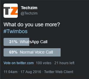 twitter poll whatsapp vs voice