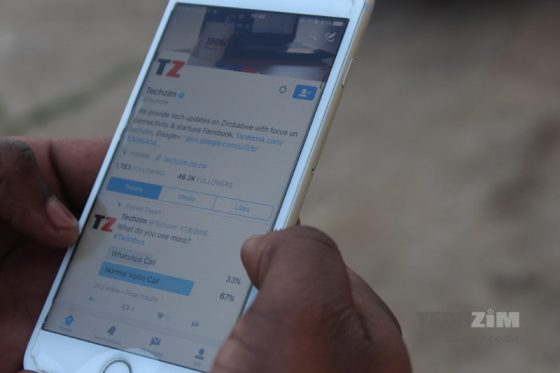 Techzim Twitter, Techzim, Twitter on iOS, social networking, social media, Tweeting