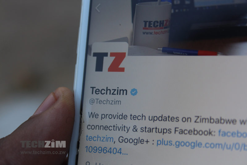 Social Media accounts, Techzim,
