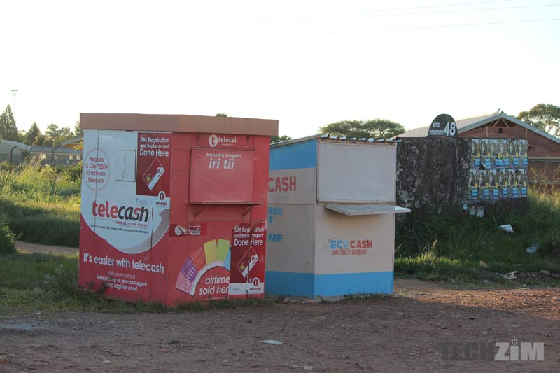EcoCash, Telecash, mobile money agents