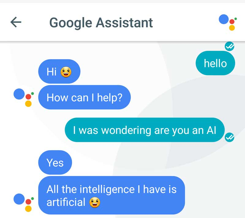 Artificial intelligence Google Assistant
