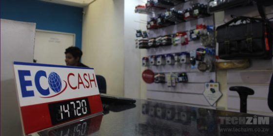 Ecocash merchant payment, computer shop