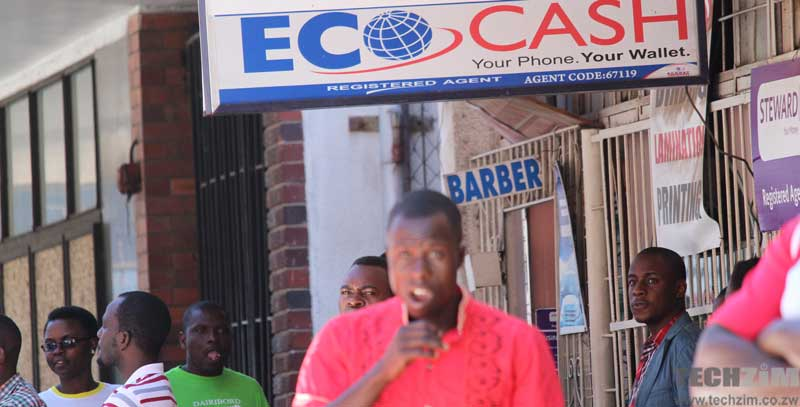 People near an EcoCash agent