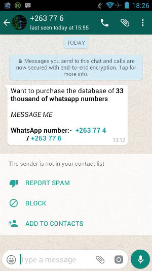 WhatsApp Database for Sale