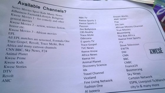 Kwese Channels