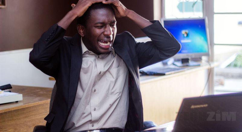 Man expressing surprise