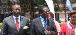 Emmerson Mnangagwa with Supa Mandiwanzira