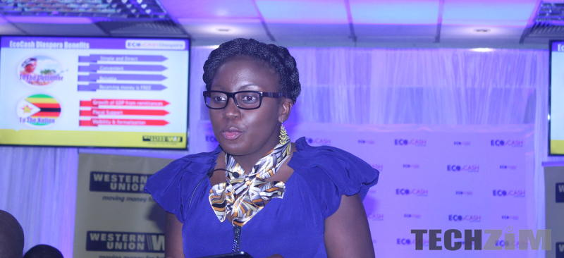 Nathalie Jabangwe C.E.O of EcoCash