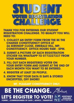 Student Voter Registration Challenge