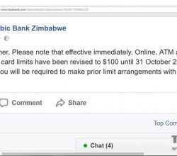 Stanbic bank announcement visa card limits