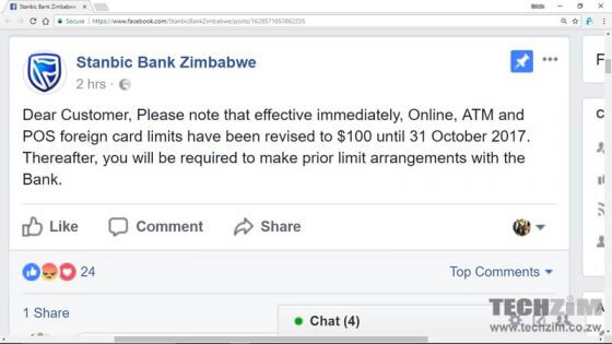 Stanbic bank announcement visa card limits