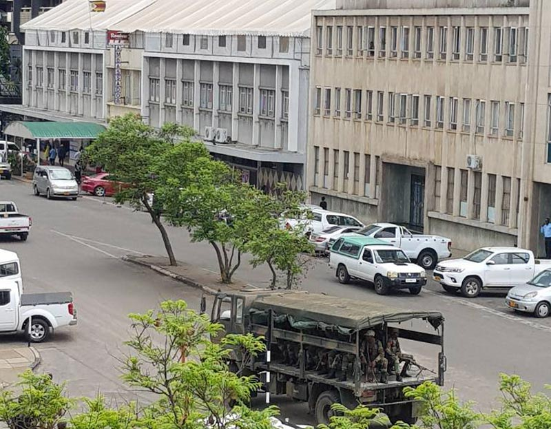 Army presence in Harare city Centre