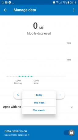 Datally Screenshot - Data savings
