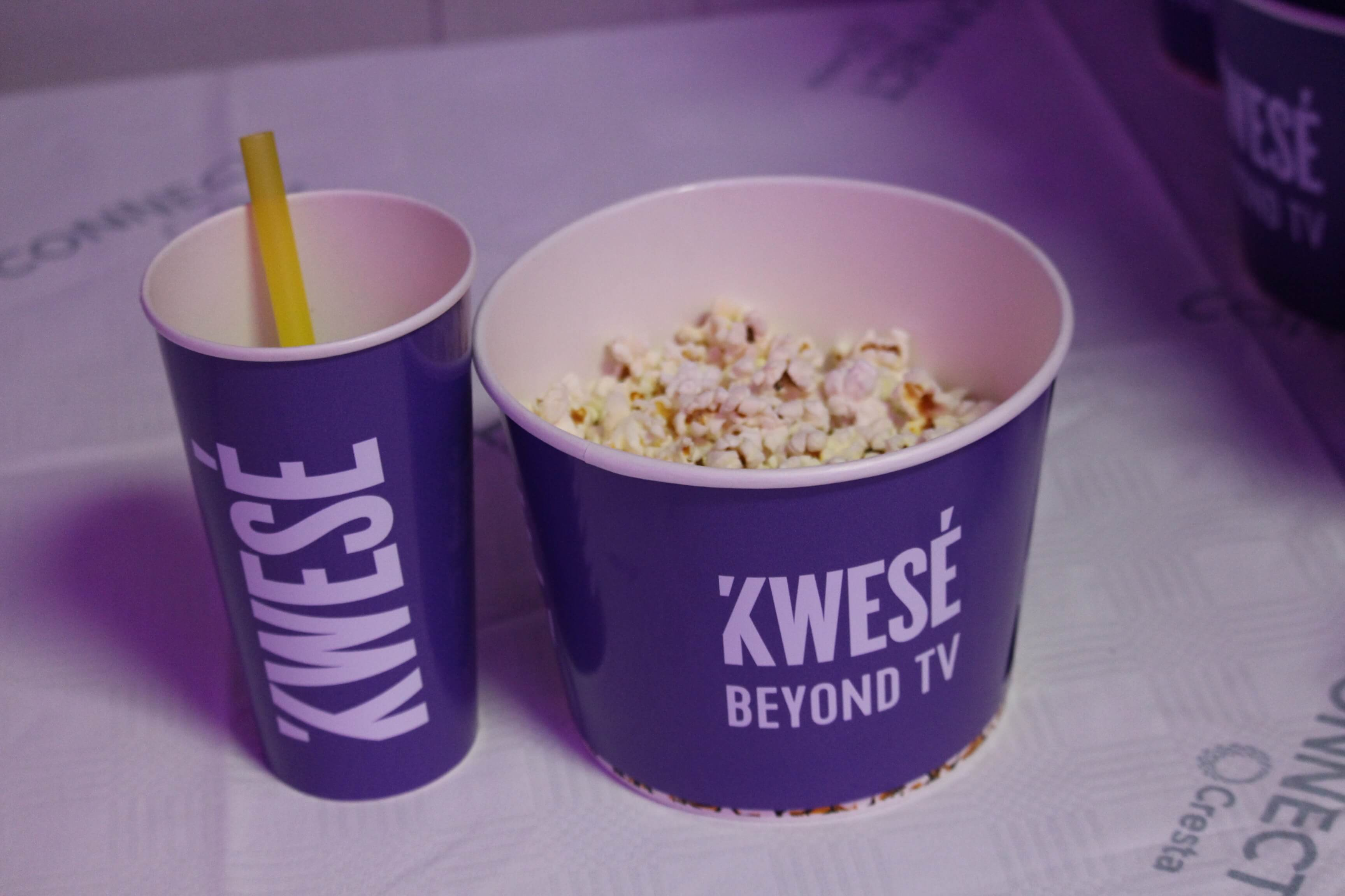 Kwese branded popcorn packaging