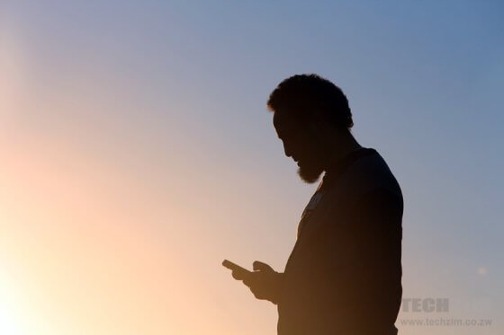 Silhouette of Man on the phone