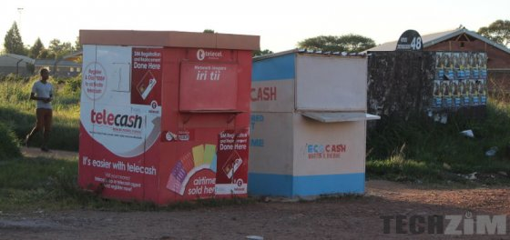 Telecash and Ecocash booths